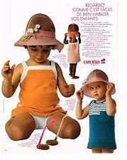 PUBLICITE ADVERSTISING   1969   OZONA   vetements enfants