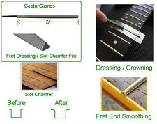 GeetarGizmos FRET DRESSING / SLOT CHAMFER FILE Grobet Woodworker Luthier Tool