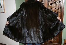 Vintage Christian Dior Fur Mink Coat,  Size Petite Small, Mahogany