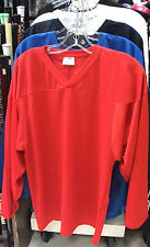New Powertek ice hockey practice jersey long sleeve XL large red senior sr