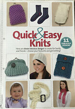KNITTING PATTERN 11 Quick and Easy knits Hat Socks Scarf Mittens Bonnet Baby