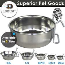 S Steel Coop Cup-Pet Chicken Poultry Rabbit Bird Dog Cat Water Food Bowl Feeder
