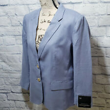 New! Banana Republic Women's Blue Linen Jacket Blazer | Size 14 | Orig $109