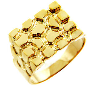 Solid Gold Men's Armour Nugget Ring