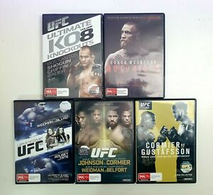 UFC MMA DVD Movie Collection 5 DVD's McGregor, Rousey, Silva, Cormier LIKE NEW