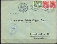 NETHERLANDS WW I TILBURG  26.10.15  COVER TO FRANKFURT GREAT FRANKING
