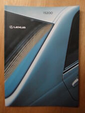 LEXUS IS200 orig 2001 UK Mkt Prestige Sales Brochure - S SE Sport