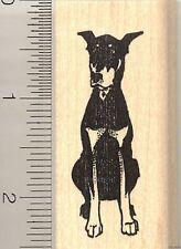 Doberman Pinscher dog rubber stamp G11003 WM