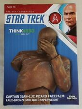Star Trek TNG Captain Picard Facepalm Resin Mini Bust/Paperweight (Faux-Bronze)