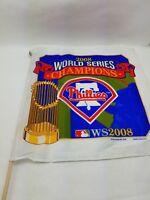"MLB Philadelphia Phillies 2008 World Series Hand Held Flag 17""x17"" Baseball"