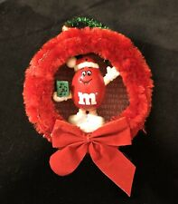 Handmade Ooak Red M&M Double Sided Christmas Ornament