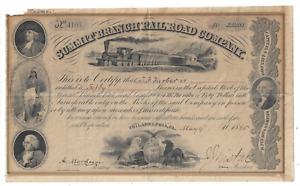 Stk Summit Branch RR Philadelphia, PA 1885 Not cancelled A PA RR See images