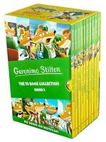 NEW Geronimo Stilton 10 Books Collection Series 2 Library Slipcase Kids Gift Set