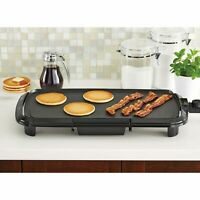 """20"""" Grill Griddle Electric Non Stick Flat Top Indoor Countertop Portable Large"""