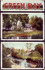 1909 GREEN BAY -  TANK COTTAGE (oldest house standing in WI) and BAIRD'S CREEK