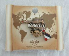 Hard Rock Cafe Honolulu Hawaii 3D World Map Series Pin 2017