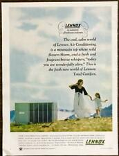 1966 Lennox Air Conditioning PRINT AD Nature's Freshness Indoors