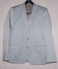 VERSACE COLLECTION Light Gray Wool Viscose 2 Button Vents Men Blazer Size:48