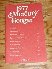 Original 1977 Mercury Cougar Owners Operators Manual 77