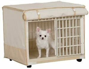 Plastic Pet Crate with Fabric Cover