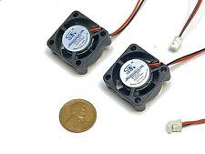2 Pieces 5v fan 2510 small 2 pin computer GDStime 25mm x 10mm mini  B9
