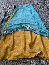 """Silk saree Wrap around skirt,37"""""""