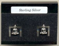 Buddha Sterling Silver 925 Studs Earrings Carded