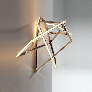 Gold Luxury Led Wall Lamp Living Bedroom Stainless Steel Aisle Geometric Decora