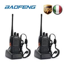 2×baofeng Bf-888s Auricolare UHF 400-470 MHz Ricetrasmittente Walkie Talkie EU