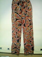 SIZE 10 FLORAL SUMMER TROUSERS WITH ZIP ON ANKLE DETAIL PERFECT FOR SUMMER VGC