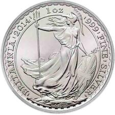 Brand New 2014 UK Great Britain Silver Britannia 1oz Silver Bullion Coin