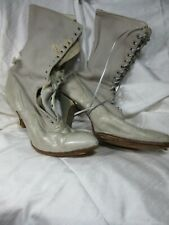 A Pair of Antique Woman's High Top Shoes Victorian Decorative Repair or Upscale