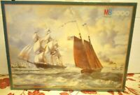 MB Jigsaw Puzzle 3000 Piece Discovery The Golden West Tall Ship Rare New Sealed