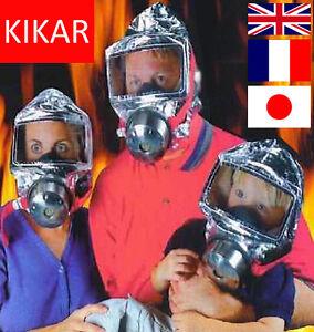 60 mins Emergency Escape Smoke Gas Hood Protective Firemask Big Visor Hard Case