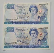 1990 NEW ZEALAND 10 Dollars `UNCUT' PAIR COMMEMORATIVE [P-176] aUNC
