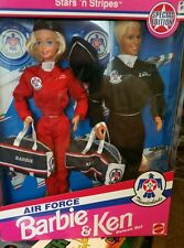 Vintage Air Force Thunderbirds Barbie & Ken Deluxe Set Stars 'n Stripes NIB 5+