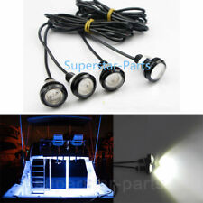 4X WHITE LED Boat Light Waterproof Outrigger Spreader Transom Underwater Troll