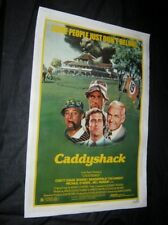 Orig 1980 CADDYSHACK Linen Backed ROLLED NEVER FOLDED!!! Chevy Chase DANGERFIELD
