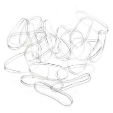 200 pcs Clear Ponytail Holder Elastic Rubber Band Hair Ties Ropes Rings
