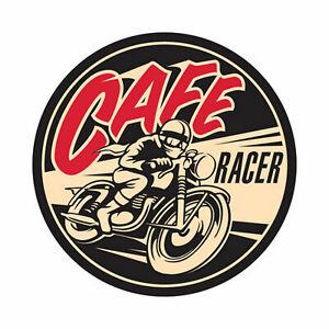 Retro Aufkleber Cafe Old School Motorcycles Sticker Race Retro Vintage #3