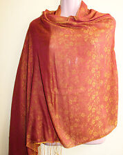 Silk blend, both side wearable, printed Water pashmina Shawl Made in Nepal