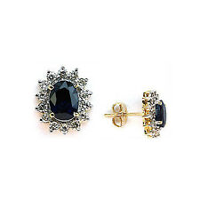 Two Tone Sapphire Studs weighing 2.47ct Sapphire