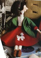 """Sewing Pattern makes 15""""  50's doll  whimsical sock Hop school girl poodle skirt"""