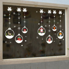 Christmas Wall Window Stickers Decal Baubles Snow Xmas Home Room Decor 50*70cm