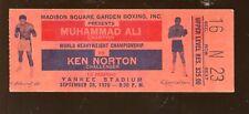 9-28 1976 Muhammad Ali vs Ken Norton On Site Yankees Stadium Boxing Ticket Stub
