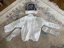 Glorybee Beekeepers Jacket Fencinghoodie Veil Xl With Goat Skin Gloves L
