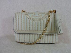 NWT Tory Burch Birch Fleming Mini-Stud Small Convertible Bag $598