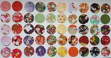 Traditional Japanese Chiyogami Yuzen Paper ~ 3.8 cm Circles ~ 150 pieces