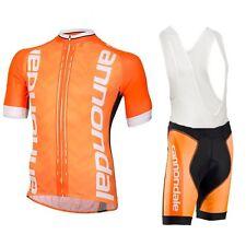 Cannondale Cycling Jersey Mens Bike Short Sleeve Jersey +Bib Shorts Set Clothing