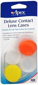 Apex Deluxe Contact Lens Cases 2 Ct - Colors may vary (4 Pack)